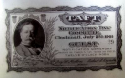 Taft Ticket on Marker image. Click for full size.