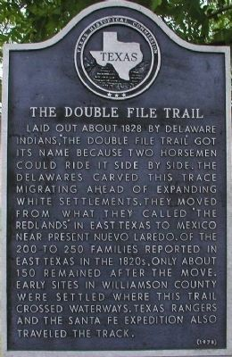 The Double File Trail (Georgetown) Marker image. Click for full size.