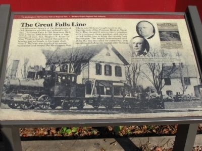The Great Falls Line Marker image. Click for full size.
