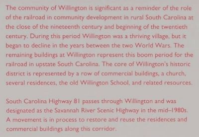 Willington Marker image. Click for full size.