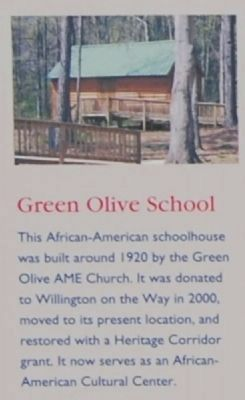 Willington Marker -<br>Green Olive School image. Click for full size.