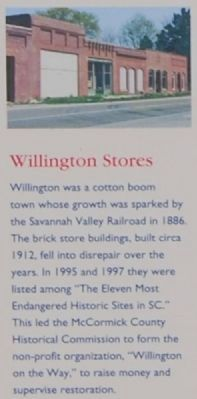 Willington Marker -<br>Willington Stores image. Click for full size.