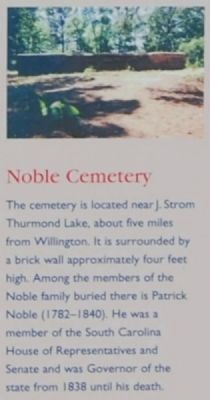 Willington Marker -<br>Noble Cemetery image. Click for full size.