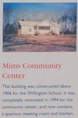 Willington Marker -<br>Mims Community Center image. Click for full size.