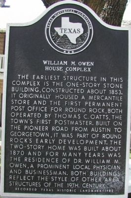 William M. Owen House Complex Marker image. Click for full size.