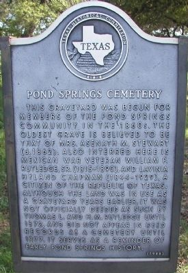 Pond Springs Cemetery Marker image. Click for full size.