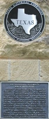 Southwestern University Main Building Marker image. Click for full size.