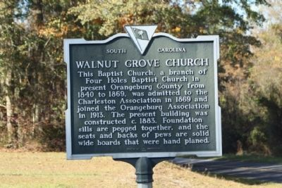 Walnut Grove Church Marker image. Click for full size.