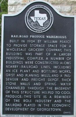 Railroad Produce Warehouse Marker image. Click for full size.