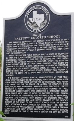 Site of Bartlett Colored School Marker image. Click for full size.
