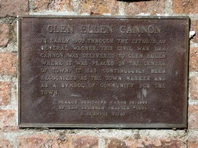 Glen Ellen Cannon Marker image. Click for full size.
