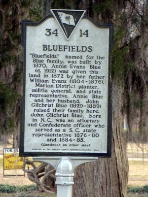 Bluefields Marker, Side One image. Click for full size.