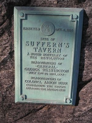 Suffern's Tavern Marker image. Click for full size.