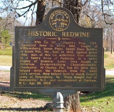 Historic Redwine Marker image. Click for full size.