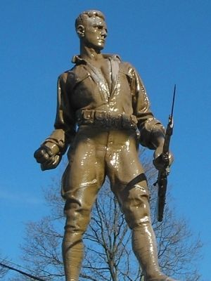 Closeup of Soldier on the Monument image. Click for full size.