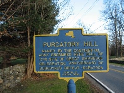 Purgatory Hill Marker image. Click for full size.