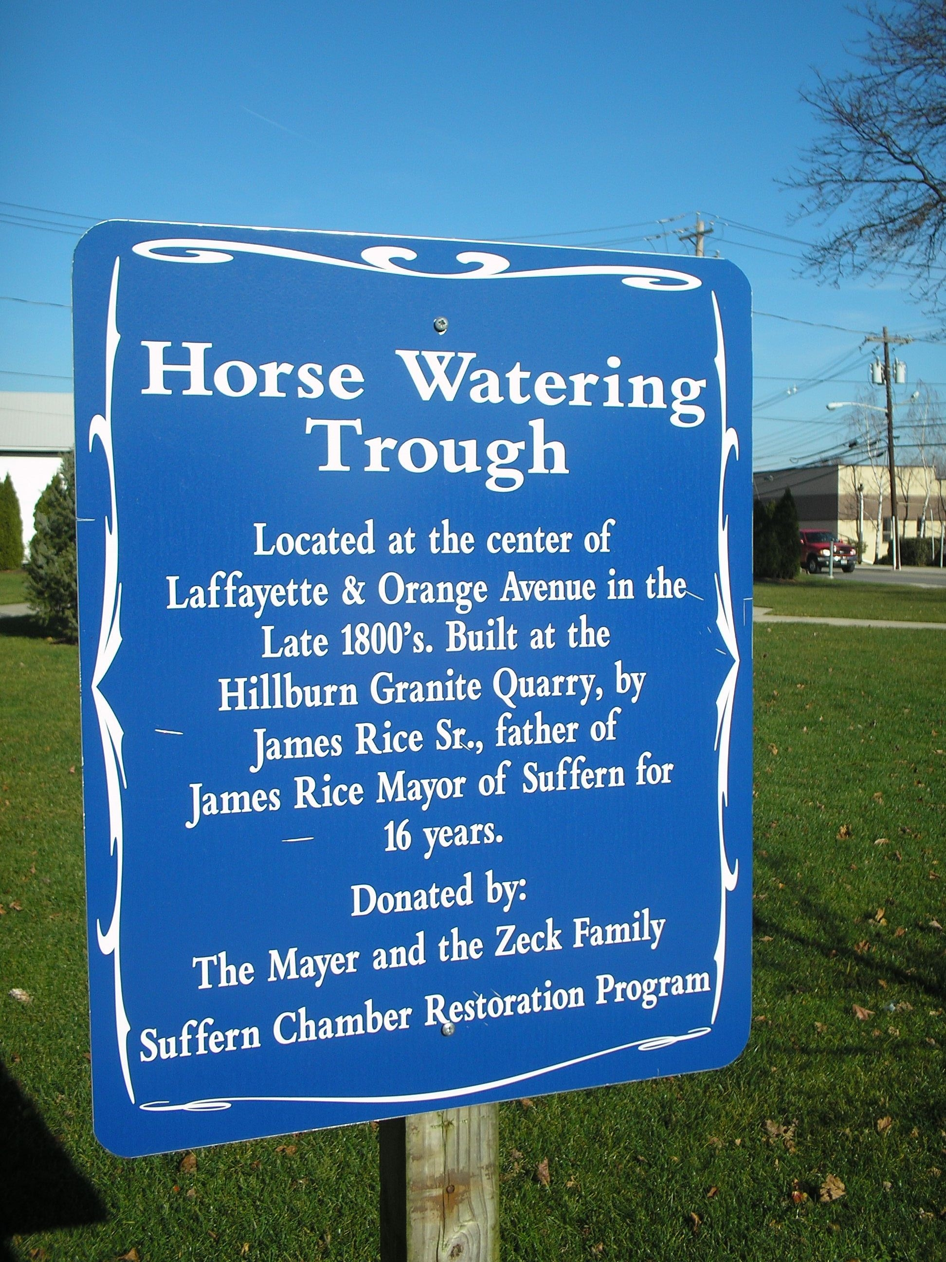 Horse Watering Trough Marker
