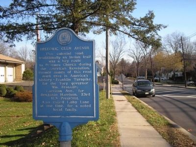 Historic Glen Avenue Marker image. Click for full size.