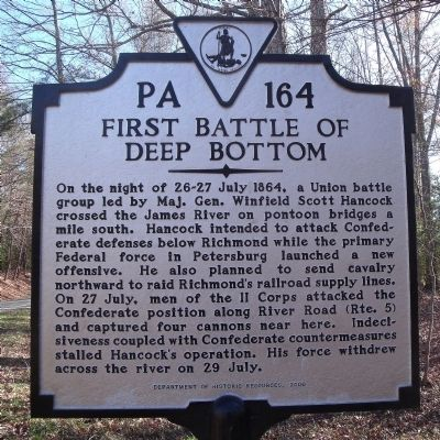First Battle of Deep Bottom Marker image. Click for full size.