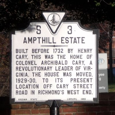 Ampthill Estate Marker image. Click for full size.