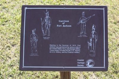 Garrison of Fort Jackson Marker image. Click for full size.
