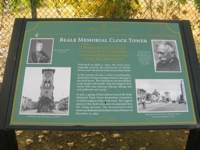 Beale Memorial Clock Tower Marker image. Click for full size.