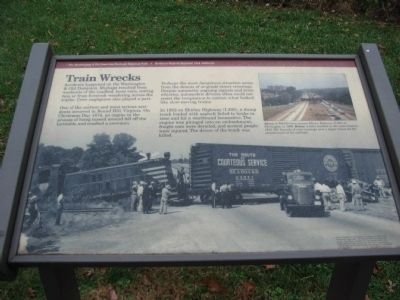 Train Wrecks Marker image. Click for full size.