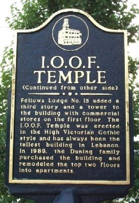 I.O.O.F. Temple Marker (Side B) image. Click for full size.