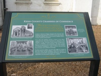 Kern County Chamber of Commerce Marker image. Click for full size.