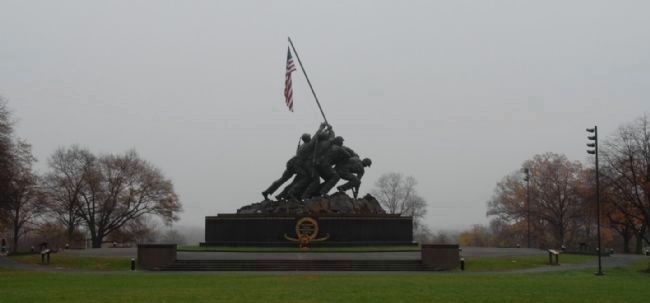 United States Marine Corps Memorial and Markers image. Click for full size.
