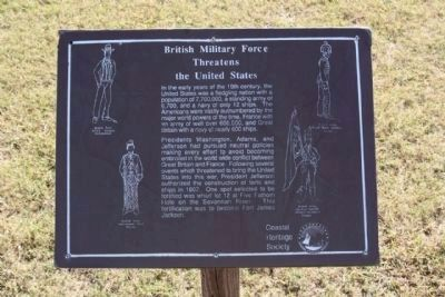 British Military Force Threatens the United States Marker - Panel one image. Click for full size.