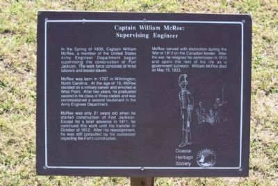 Captain William McRee: Supervising Engineer - Panel two image. Click for full size.