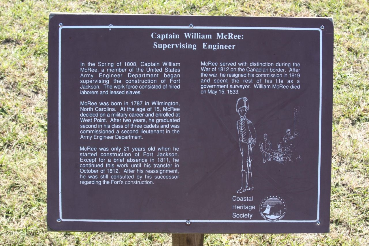 Captain William McRee: Supervising Engineer - Panel two