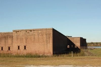 Fort Jackson, south and east wall image. Click for full size.