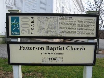 Patterson Baptist Church Marker image. Click for full size.