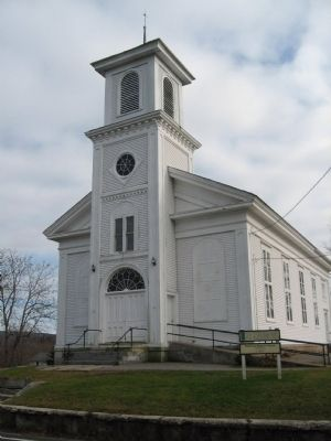 Patterson Baptist Church and Marker image. Click for full size.