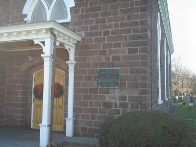 Marker on the Old Paramus Reformed Church image. Click for full size.