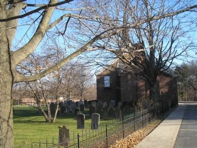 Churchyard of the Old Paramus Reformed Church image. Click for full size.