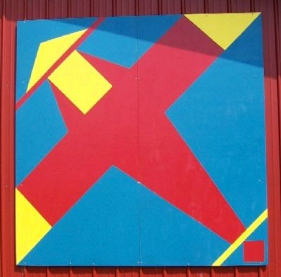 Airplane Quilt Square at Vinton County Airport image. Click for full size.