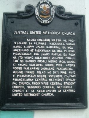 Central United Methodist Church Marker image. Click for full size.