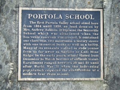 A Second Portola Primary School Marker image. Click for full size.