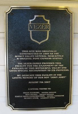 Vezér Family Vineyard Marker image. Click for full size.