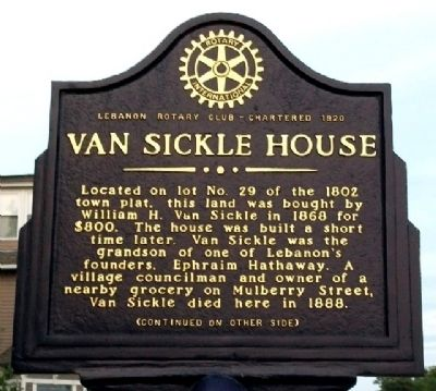 Van Sickle House Marker (Side A) image. Click for full size.