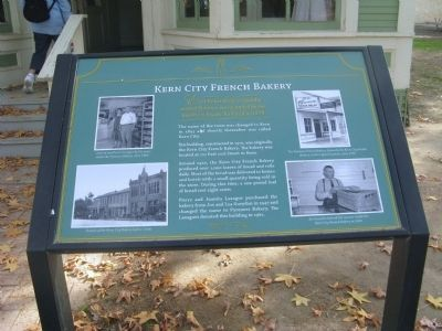 Kern City French Bakery Marker image. Click for full size.