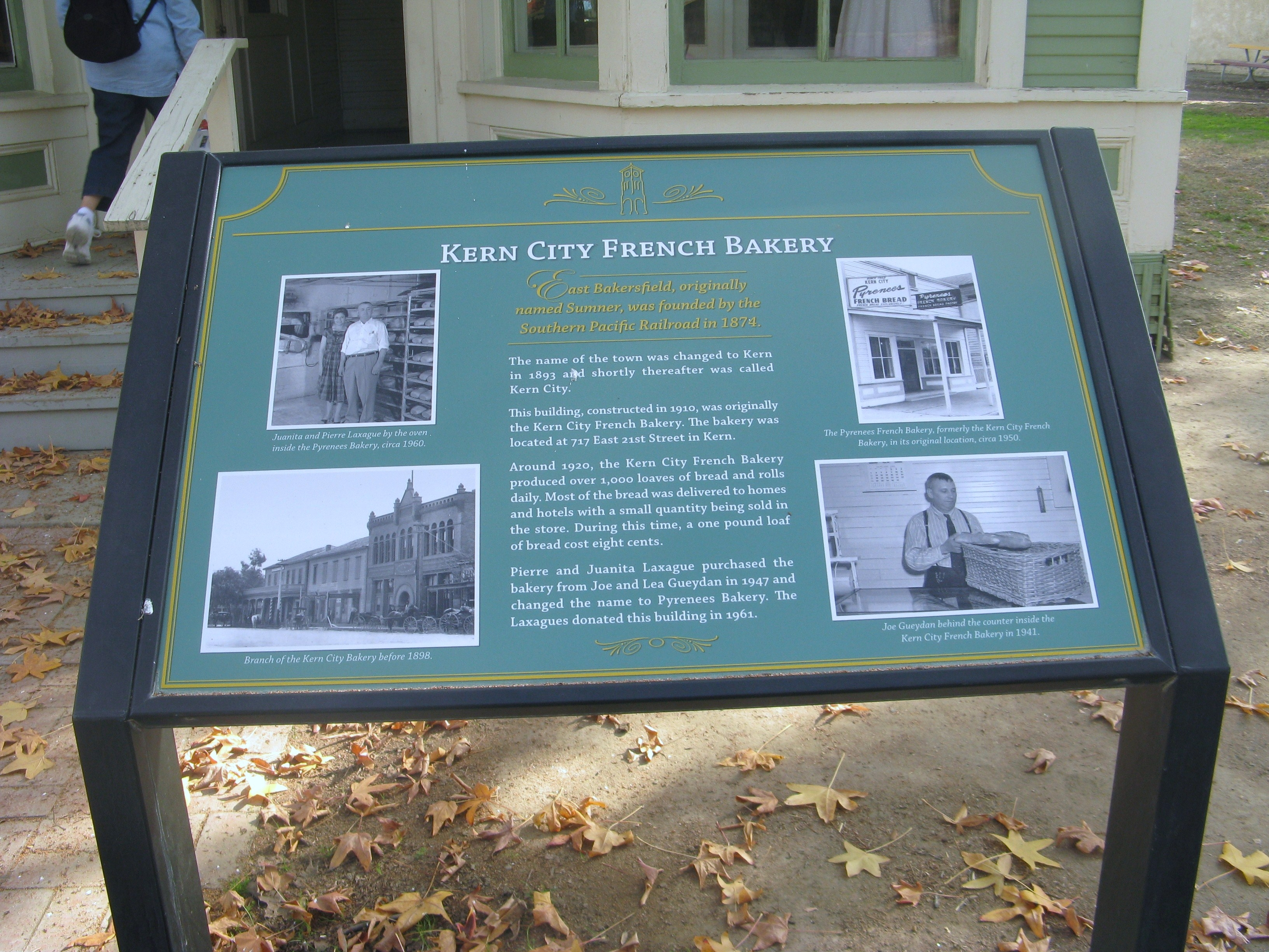Kern City French Bakery Marker