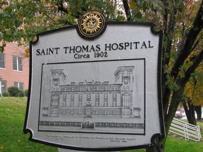 Saint Thomas Hospital Marker 'reverse' image. Click for full size.