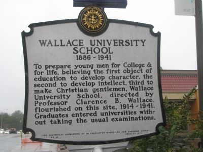 Wallace University School Marker image. Click for full size.