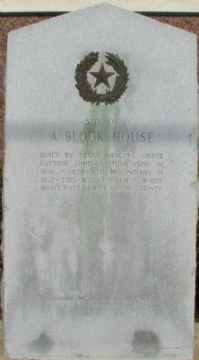 Site of a Block House Marker image. Click for full size.
