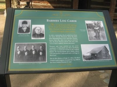 Barnes Log Cabin Marker image. Click for full size.