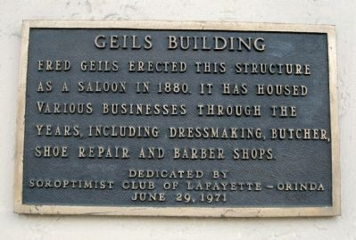Geils Building Marker image. Click for full size.